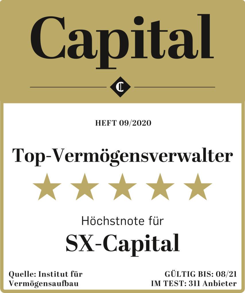Auszeichnung Top-Vermögensverwalter Finanzmagazin Capital